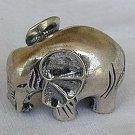 Elephant silver miniature-B