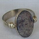 Naturale purple agate stone ring