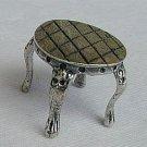 Coffee table silver miniature