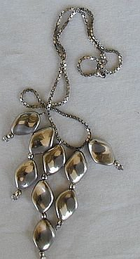 Rhodium and silver necklace