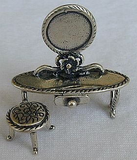 Dressing table silver miniature