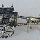 Carriage silver miniature-A