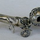 Cinderella carriage silver miniature