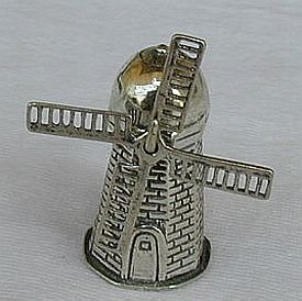 Windmill silver miniature