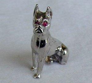 Bulldog Rhodium miniature
