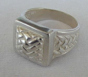 Cubic silver ring-unisex