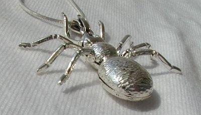 Spider silver pendant