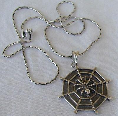 Spider net pendant
