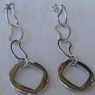 Silver dangling earrings
