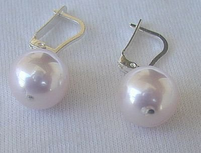 Pink pearls earrings