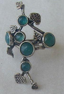 Silver flower-green