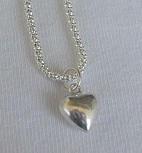 Mini heart silver pendant