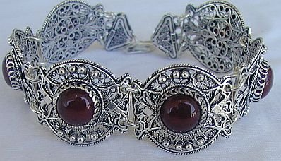 Red magic silver bracelet