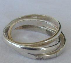 Trio silver ring