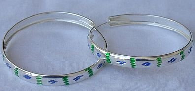 Green&light-blue hoops