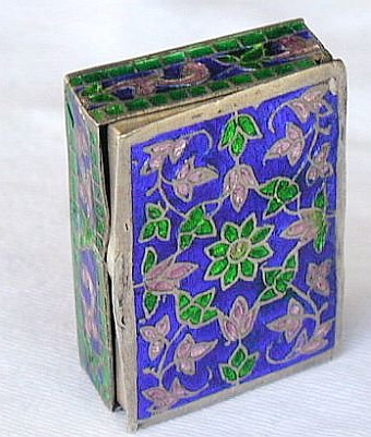 Flowers mini silver box
