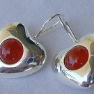 Reddish hearts earrings
