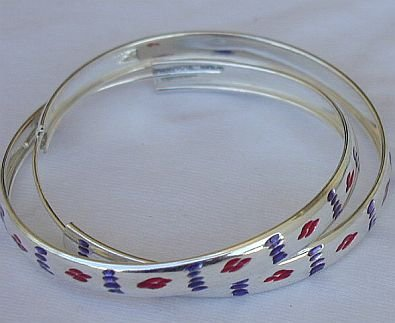 Purple and red hoop