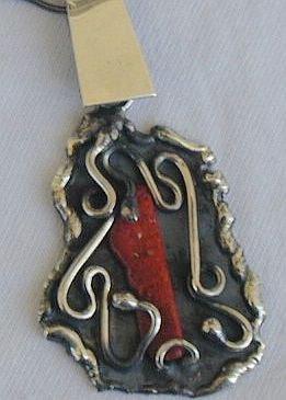 Hand made sea stone pendant