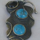 Silver-Turquoise-Onyx  pendant