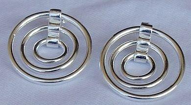 3hoops  silver earrings