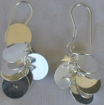 Silver grapes earrings