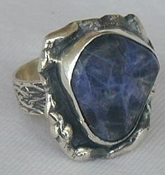 Raw lapis ring