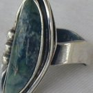 Greenish hand made ring