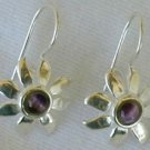 Mini purple flowers earrings