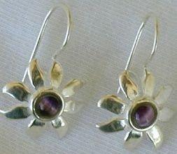 Mini purple flowers earrings