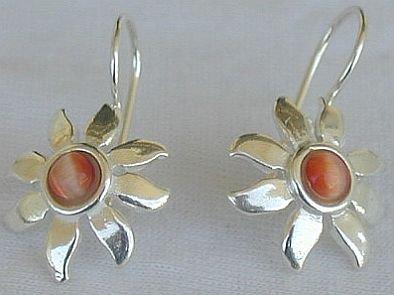 Mini brownish sun earrings