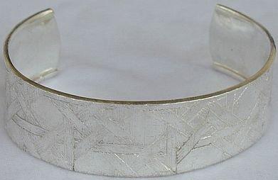Hermon silver bangle