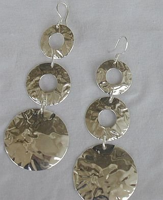 3parts silver earrings