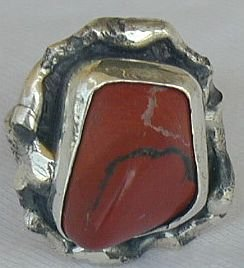 blood stone with black ring--SB
