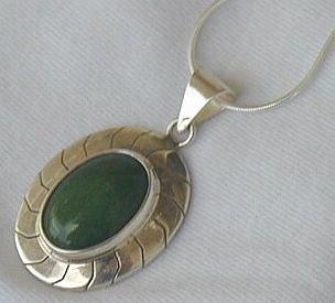 Green agate pendant-B