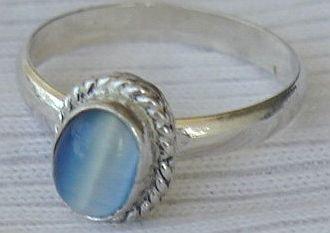 Mini light blue ring