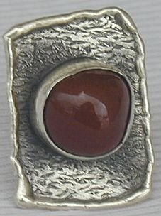 Hand made red ring