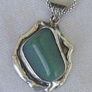 Hand made green pendant-HP4