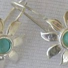 Mini light blue sun earrings
