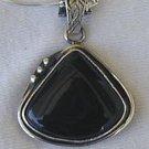 Black agate pendant-SR62
