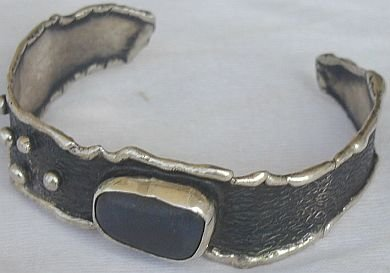 Black agate bangle-HP
