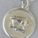 Taurus round pendant