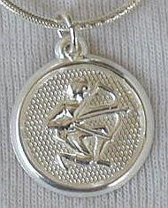 Sagittarius round pendant.