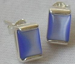 Mini light blue earrings