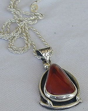 Amber hand made pendant-AMB3