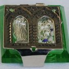 Olive green mini Rosary box