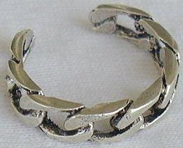 silver parts toe ring