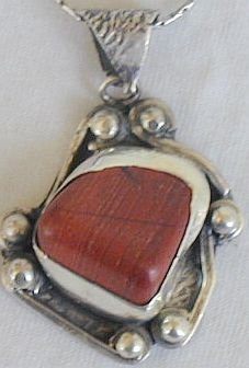 Blood stone pendant-F