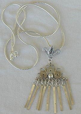 Lagona silver pendant
