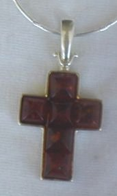 Brown amber cross